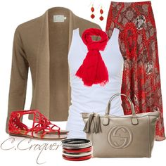 """""""Red Scarf 2"""" by ccroquer on Polyvore"""