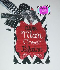 Personalized Cheer Bag Tag #cheer #camp #all-American #nca #rebelandsass http://www.rebel-and-sass.myshopify.com/