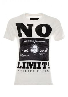 Philipp Plein | 'No Limit' T-Shirt White | Mens T Shirt | BOUDI, 98 New Bond St. London W1S 1SN, United Kingdom | www.boudi.co.uk