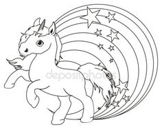 Výsledek obrázku pro unicorn omalovánky Good Company, Rooster, Animals, Art, Colouring In, Creativity, Drawings, Craft Art, Animaux