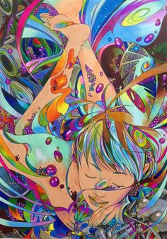 Incredibly Colorful Art Marker Illustrations by Fudearashi