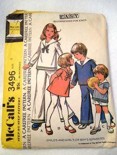 vintage pattern - sailor suit