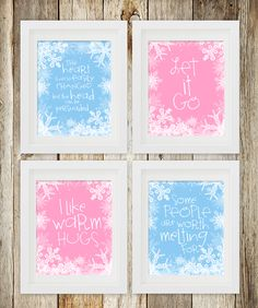 Free printable movie quotes from Disney's Frozen. Just get a frame, and it becomes an adorable, inexpensive decoration for a little girl's room. #disneyprincess #disneyprintable #frozenprintable