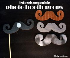 Holy Craft: Interchangeable photo booth props #madewithmichaels #plaidcrafts