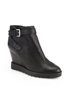 Ash - Iona Leather Wedge Ankle Boots - Saks.com