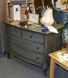 Doodle Bug: Distressed Antique Dresser--Paint & Stain