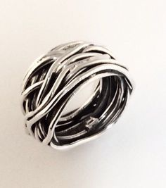 Sterling Silver Wire Band Size About 6&1/2 #Unbranded #Band