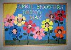 preschool bulletin board ideas | Treasures of the Heart Preschool and Child Care: April Showers Bring ...