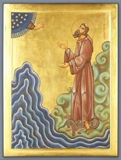 St. Cuthbert, an early Celtic Saint, used to pray standing in the sea.  When he stepped out, the sea otters would dry his feet with their fur.