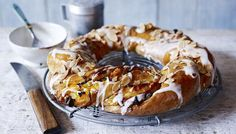 (Series 4, Episode 6 - Sweet Dough) Apricot couronne: Make teatime special with this sweet, glazed crown of rich bread stuffed with apricots, walnuts and raisins.