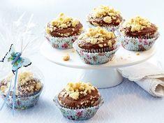 Pralinen-Muffins mit Vanillestreuseln Rezept | LECKER