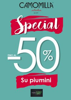 Scopri le promozioni della settimana di Camomilla Italia  -50% sui piumini della nuova collezione. Ti aspettiamo online su www.camomillaitalia.com e nel nostro store!