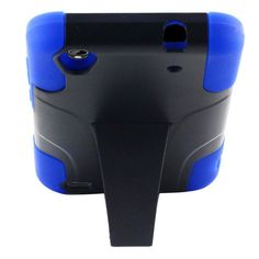 ZT QUARTZ Z797C,BLUE/BLACK HYBRID UNBRANDED PLASTIC CASE WITH KICKSTAND #Unbranded