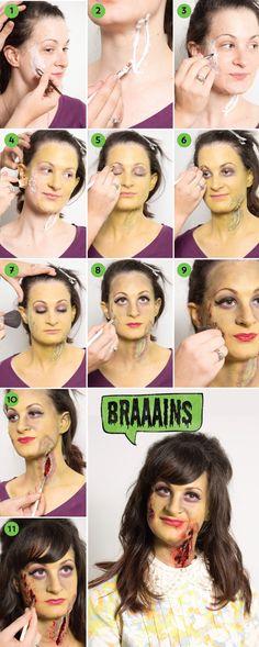 #diy zombie makeup