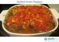 Stuffed green peppers remind me of being a kid. My Mom's recipe was the best! Now I have tweaked and tweaked, and made up my own. I hope you like it.