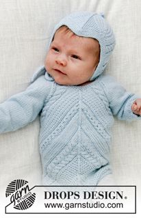 Free knitting patterns and crochet patterns by DROPS Design Baby Knitting Patterns, Baby Cardigan Knitting Pattern Free, Lace Patterns, Free Knitting, Crochet Patterns, Drops Design, Designer Baby, Crochet Design, Drops Baby