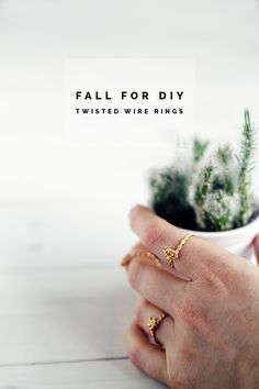 Fall For DIY Twisted Wire Rings