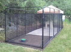 K9 Kennels 8' x 24' Ultimate dog kennels has every thing you need for the perfect kenneling system for your dogs. Everything from sanitation to flooring to feeding and watering. This kennel does it all.