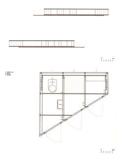 RCR Arquitectes - Pabellón del Baño, Espacio Fluvial, Tussols-Basil, Olot, Gerona (1999) Floor Plans, Detail, Architecture, Blue Prints, Space, Floor Plan Drawing, House Floor Plans