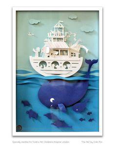 Noah's Ark 3D papercut for Noah's Ark Children's Hospice