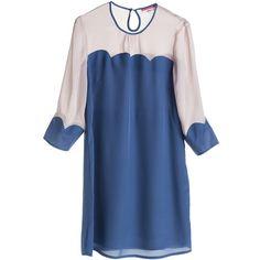 ELEY KISHIMOTO FOR WEEKDAY Ek Scallop Dress Blue ❤ liked on Polyvore featuring dresses, blue, vestidos, платья, girls, blue scalloped dress, scallop trim dress, blue day dress, scallop hem dress and scalloped dress