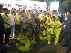 The winning team .!!