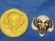 Gothic Skull Flexible Push Mold Food Safe Silicone #967 Cake Chocolate Resin Wax