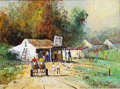 Phillip Britz - Google Search South African Homes, South African Art, Cape Dutch, Cottage, Landscape, Google Search, Painting, Beautiful, Casa De Campo