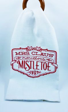 Available at Appli-Ks: Embroidered Hand Towel, pricing includes monogram