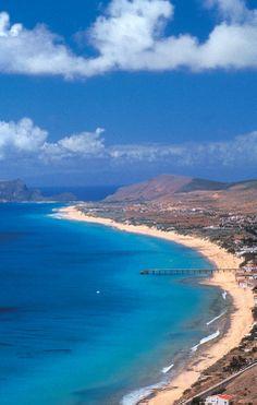 vista da ilha de Porto Santo, Madeira, Portugal