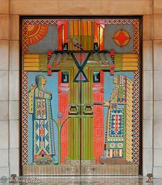 Carved wooden doors by Keith Lorenz | Representing the Red Man's Tree of Life, as it was named in the 1920s, these are the doors to the original Senate Chamber at the Nebraska State Capitol in Lincoln (Warner East Chamber)