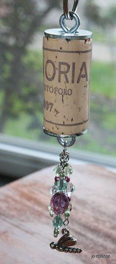 Dragonfly Cork Keychain