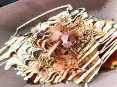 We are so excited to see Uzu back for another Emporiyum with their super nomnom Okonomiyaki. Just in case you didn't read our last year review. Okonomiyaki is a savory veggie pancake from Japan. So far we only know of Uzu that serves this great dish in DC area. Dc Food, Pancake, Just In Case, Nom Nom, Veggies, Japan, Dishes, Vegetable Recipes, Pancakes