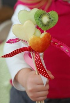 Healthy Valentine's Day Fruit Pops