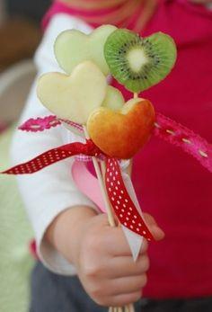 Healthy Valentine's Day Fruit Pops