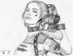 Drawing Harley Quinn #HarleyQuinn#arlequinaa#harleenquinzel#suicidesquad#joker