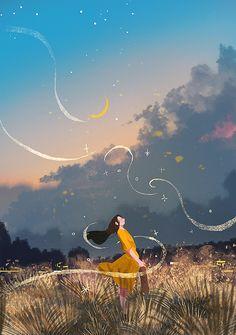 Art And Illustration, Illustrations, Art Sketches, Art Drawings, Cover Wattpad, Anime Scenery Wallpaper, Dibujos Cute, Anime Art Girl, Aesthetic Art