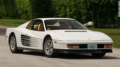 This 1986 Ferrari Testarossa was driven by actor Don Johnson in his role as Sonny Crockett in 'Miami Vice' television series.