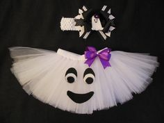 Little Ghost tutu set, custom made up to a 4t via Etsy
