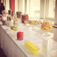 aw i love this. candy table at your wedding is definitely a necessity :)