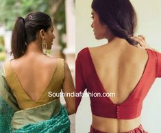 5 Sophisticated Blouse Designs For Work Wear – South India Fashion 5 sophisticated blouse designs for work wear. Blouse patterns and neck designs for formal sarees, office wear sarees, decent blouse designs New Saree Blouse Designs, Choli Blouse Design, Blouse Back Neck Designs, Fancy Blouse Designs, Saree Blouse Patterns, Blouse Styles, V Neck Blouse, Saree Styles, Sleeveless Blouse