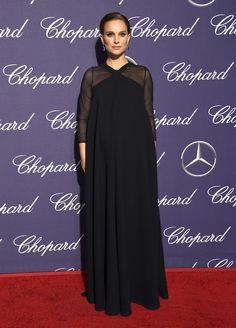 Natalie Portman in custom Dior S17 (Look 42) at Palm Springs 2017 International FF