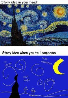 pinterest // jadynavery Funny Writing Quotes, Writing Advice, Writing A Book, Writing Prompts, Writing Corner, Writing Help, Writing Ideas, Funny Memes, Memes Chistosisimos