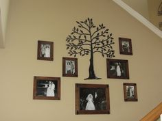 Old Family Photo wall idea - gather your your grandparents and your parents wedding photo and make a collage