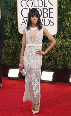 Real Kerry Washington | Hilariously Strange Kid Versions Of Celebrities At The Golden Globes