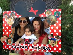 Minnie mouse party photo frame
