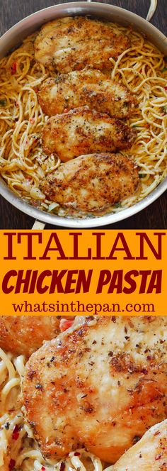 Italian Chicken Pasta in Creamy White Wine Parmesan Cheese Sauce italian dishes recipes Healthy Recipes, New Recipes, Cooking Recipes, Salad Recipes, Cooking 101, Best Dinner Recipes Ever, Recipies, Pasta Dinner Recipes, Chicken Pasta Recipes