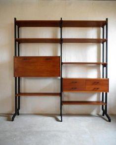 Vintage wandkast jaren 60 Simpla Lux Vintage Designs, Bookcase, Shelves, Home Decor, Lush, Shelving, Homemade Home Decor, Shelf, Open Shelving