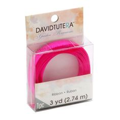 Bulk Buy: Darice DIY Crafts David Tutera Grosgrain Ribbon Fuchsia 3/8 inch x 3 yards (3-Pack) DTGR406 * See this great product.