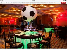 Boston Bar Mitzvah and Bat Mitzvah Photography Soccer Centerpieces, Bat Mitzvah Centerpieces, Party Centerpieces, Centrepieces, Table Decorations, Bar Mitzvah Themes, Bar Mitzvah Party, Soccer Theme Parties, Soccer Party